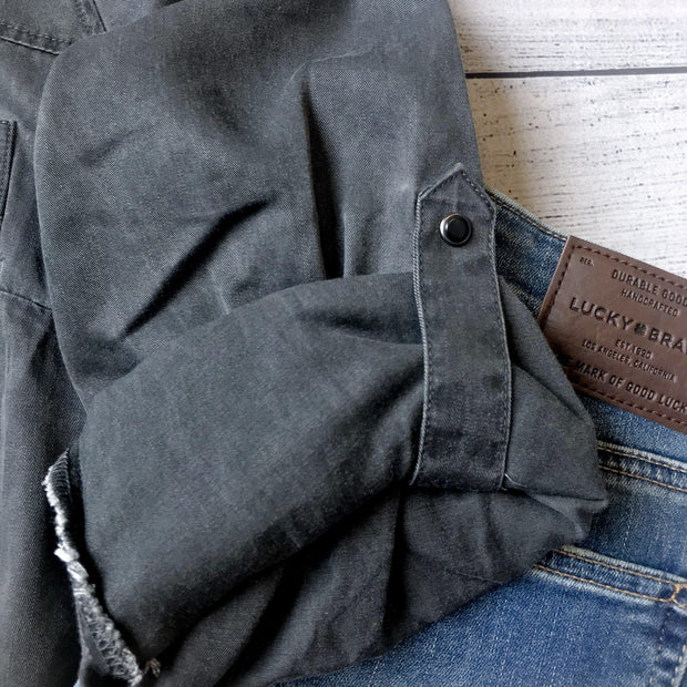 Charcoal Washed Tencel Top
