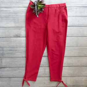 Side Tie Pant in Garnet