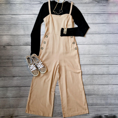 Khaki Overall Jumper-Jumpsuit-timing-Small-9Lilas