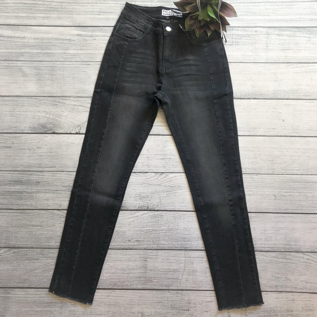High Waist Black Crop Skinny