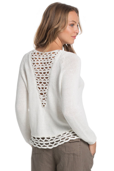 Crochet Sweater - Dusty Blue