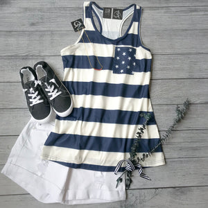Star Pocket Racerback Tank
