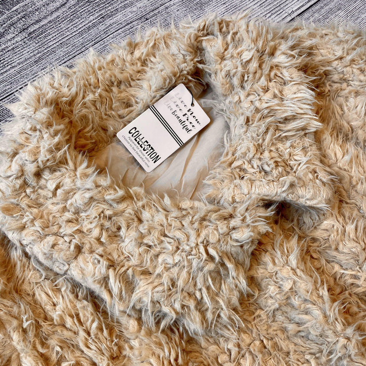 Camel Shag Fur Jacket-Jacket-Mooi Nu Collection-Small-9Lilas