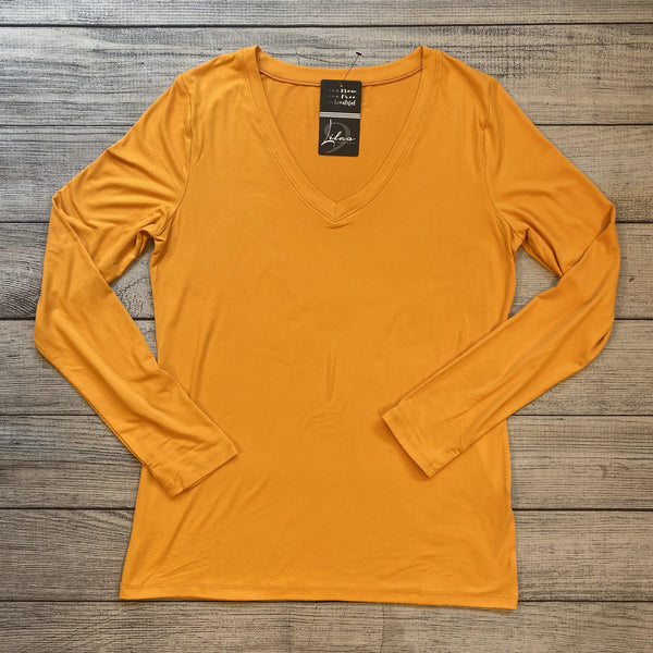 Ash Mustard Long Sleeve Top