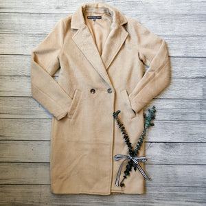 Taupe Faux Fur Overcoat