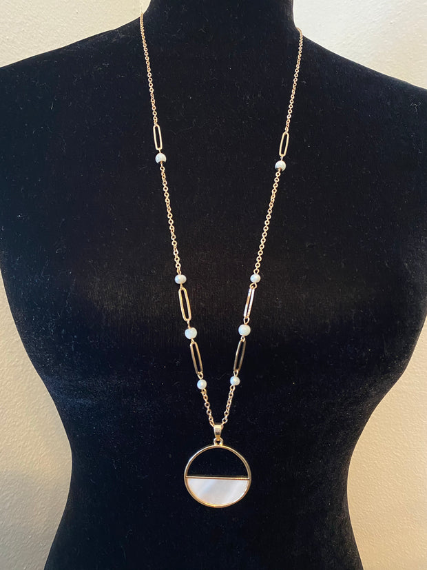 Half Shell Circle Necklace