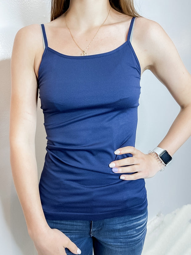 Seamless Cami- Navy