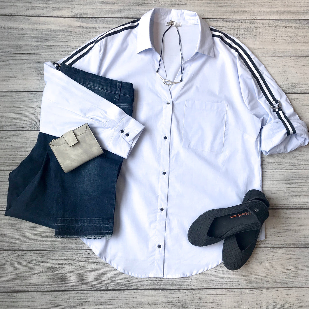 Athletic Stripe Blouse