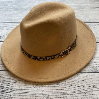 Leopard Buckle Panama Hat-Hat-Orchid Love-9Lilas