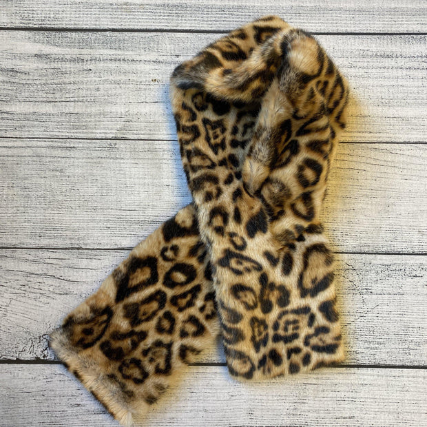 Faux Fur Collar Scarf-Scarf-current air-Leopard-9Lilas