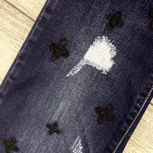 Embroidered Pull On Denim