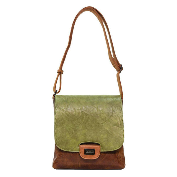 Olive & Brown Cross-Body