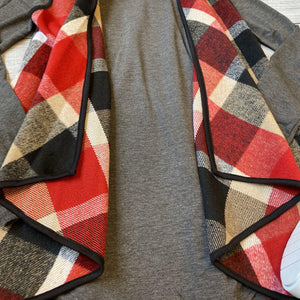 Plaid Lapel Vest