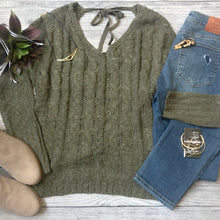 Front Wrap Olive Sweater