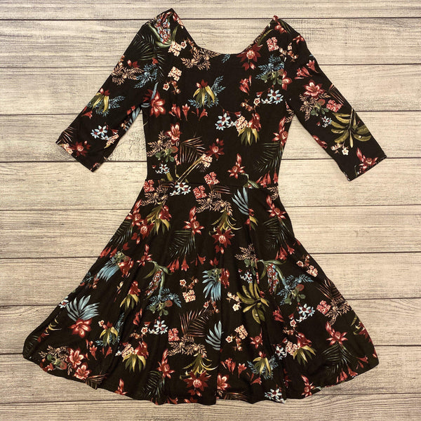 Fit & Flare Floral Sweater Dress
