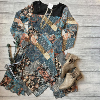 Paisley Patchwork Dress