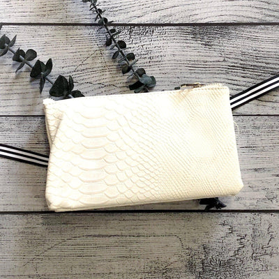 Ivory Snake Cross-Body Purse