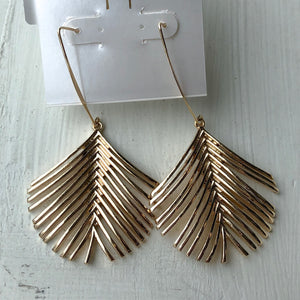 Fanned Metal Drop Earrings