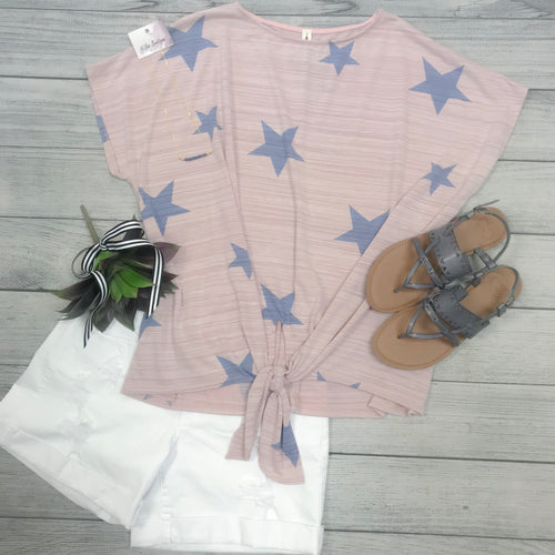 Textured Star Top