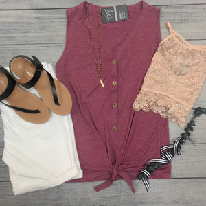 Button Down Tie Tank