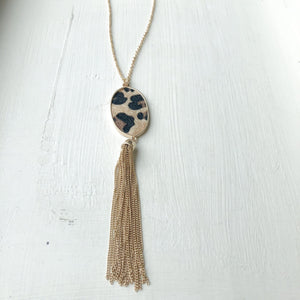 Leopard Tassel Necklace
