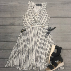 Striped Wrap Top Dress