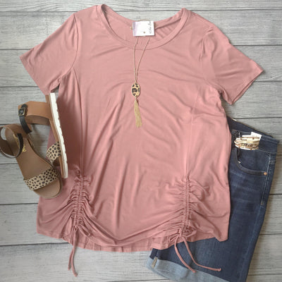 Rose Ruched Top