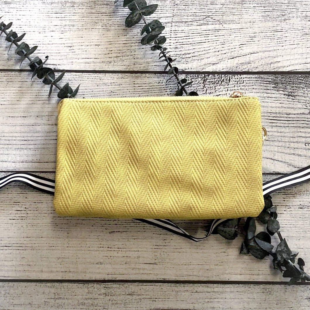 Woven Citron Cross-Body Purse