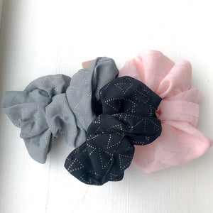 Geo Gold Scrunchie Set