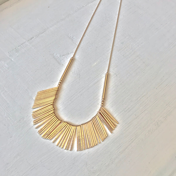 Fanned Bar Necklace