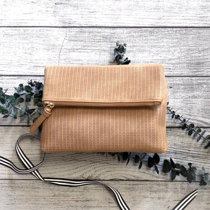 Taupe Laser Cut Clutch