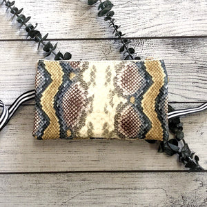 Multi-Color Snake Cross-Body Purse
