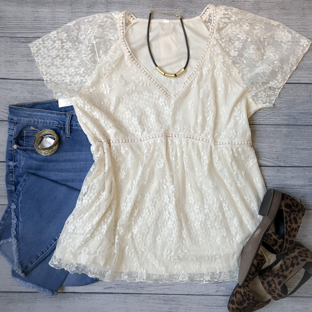 Lace Crocheted Top
