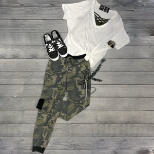 High Waisted Camo Sweats
