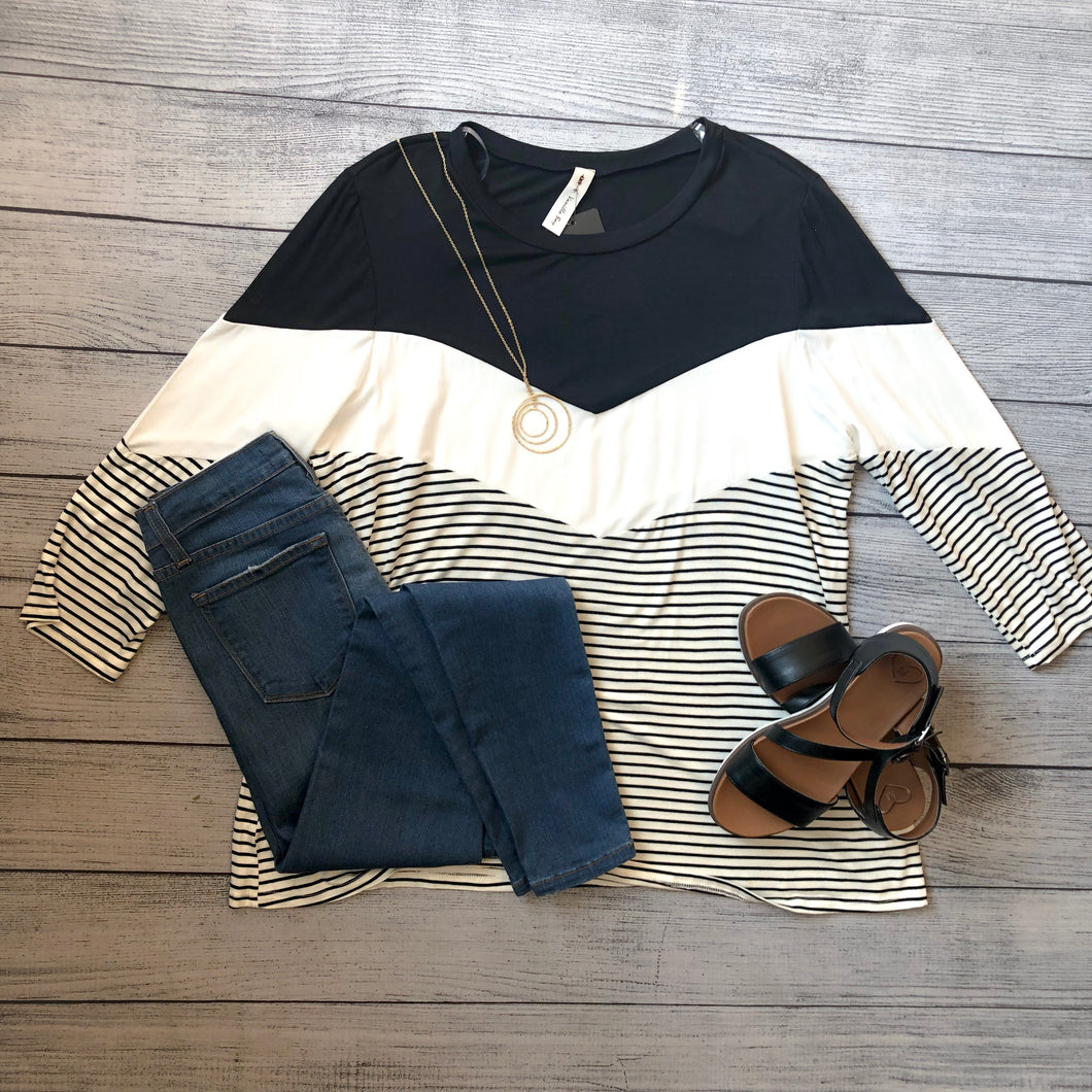Chevron Colorblock