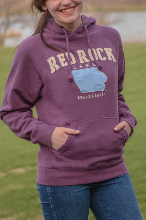 Purple Applique Red Rock Hoodie-Blue 84-9Lilas