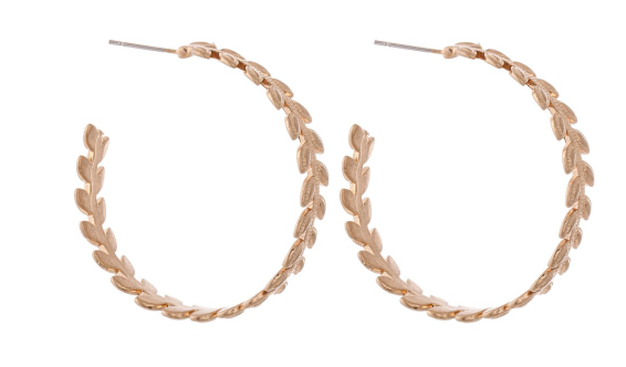 Leaf Wreath Hoops