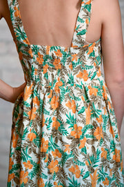 Tropical Print Tiered Dress XS-3X