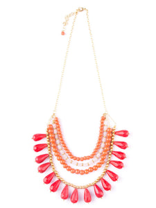 Etta Necklace - Red