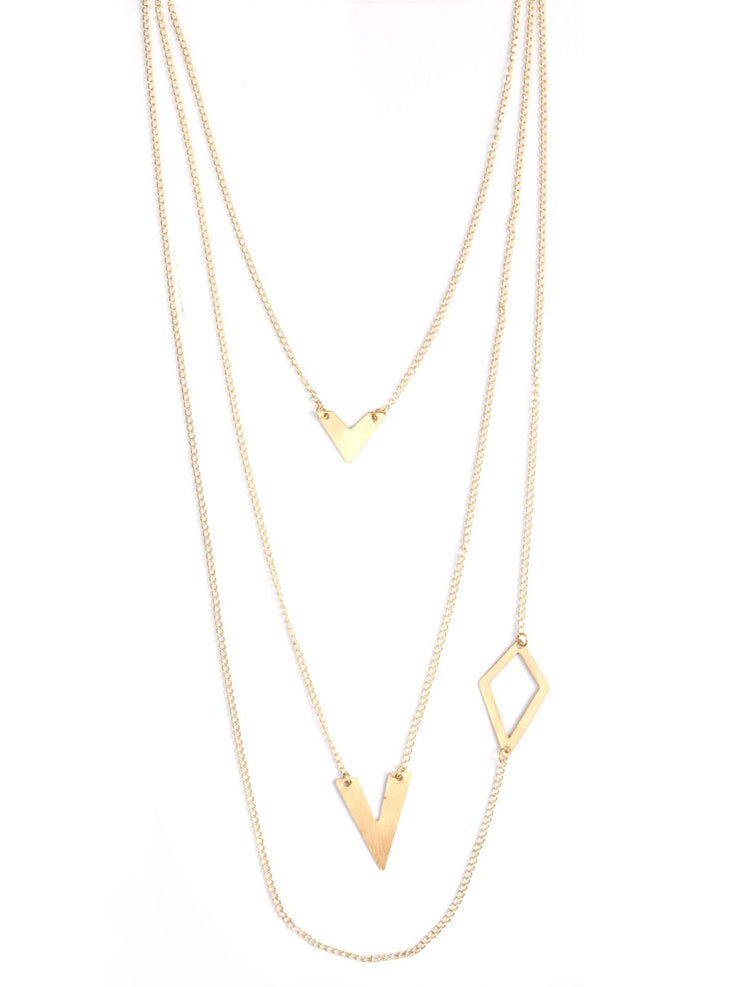 Link Shapes Necklace - Gold