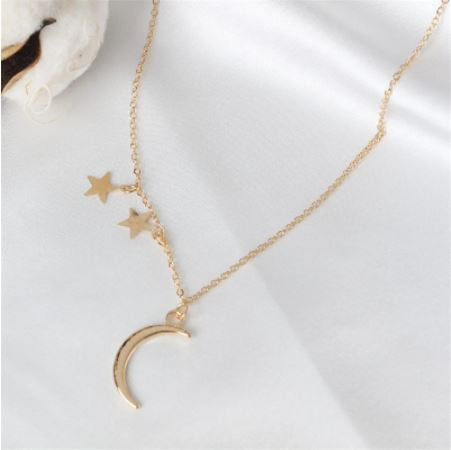 Crescent Star Necklace