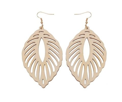 Leaf Wood Earrings