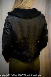 Black Ripped Collar Jacket