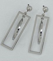 Rectangle Dangle Drop Earrings