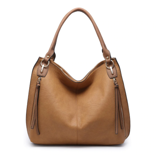 Tan Side Pocket Tote