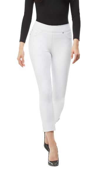 4-Way Stretch Skinny Crop Cuff - White