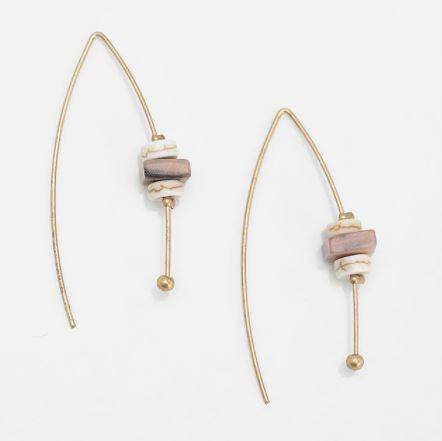 Stone Threaded Earrings