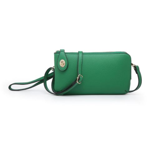 Twist Lock Emerald Wristlet