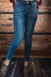 Leopard Side Panel Skinnies S-XL