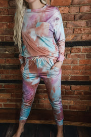 Berry Tie Dye Lounge Set S-XL